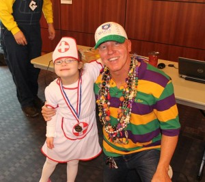 Miracle League of Michigan Director, Steve Peck with his nurse Amber.